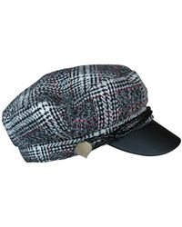 Ace of Something - Grey Check Cap With Pu Brim - Lyst