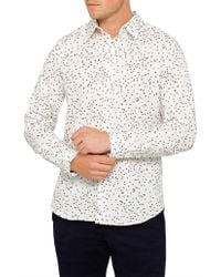730e53f9 PS by Paul Smith - Tailored Fit Multi Coloured Pin Print L/s Casual Shirt