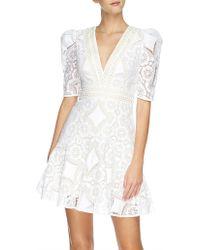 Lover - Violet Lace Mini Dress - Lyst