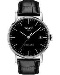 Tissot - Everytime/gr/a/steel/lea.black/black - Lyst
