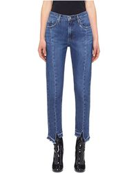 Nobody Denim - Issy High Rise Stepped Hem Jean - Lyst