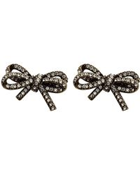 Marc Jacobs Bow Pave Studs