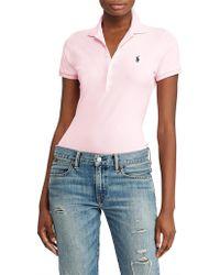 Polo Ralph Lauren - Julie Polo Skinny Short Sleeve Knit - Lyst