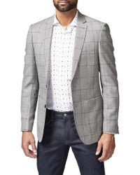 Simon Carter - 2b Sb Sv Wool/silk Wind Check Jacket - Lyst