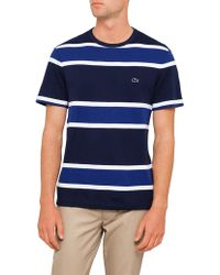 Lacoste - Rugby Stripe Tee - Lyst