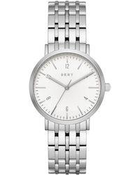 DKNY - Dress Case Silver Watch - Lyst