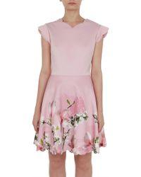Ted Baker - Grettae Floral Skater Dress - Lyst
