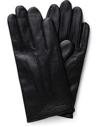 BOSS - Hainz Basic Leather Gloves - Lyst