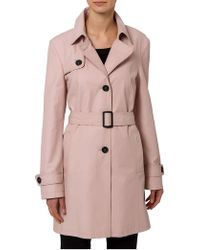 Basler | Salmon Single Breasted Trench Coat | Lyst