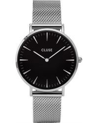Cluse - La Bohème Mesh Silver-black - Lyst