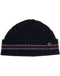 Ted Baker - Large Knitted Beanie (striped) - Lyst