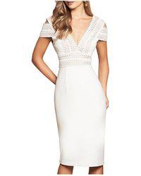 Love Honor Arabella Lace Dress in White - Lyst 7ae9669e0