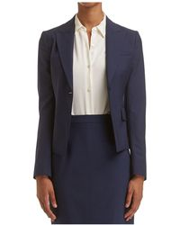 cc22743a800 Theory Double Breasted Denim Blazer in Blue - Lyst