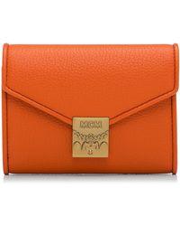 MCM - Patricia Park Avenue Flap Wallet/tri-fold Small - Lyst
