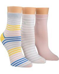 Calvin Klein - Shree Cotton Stripe Anklet 3 Pack - Lyst