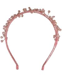 Morgan Taylor - Crystal Beads On Double Headband - Lyst