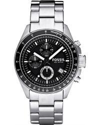 Fossil - Decker Silver Watch - Lyst