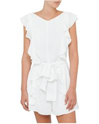 Zimmermann - Winsome Flute Playsuit - Lyst
