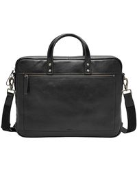 Fossil - Haskell Double Zip Briefcase - Lyst