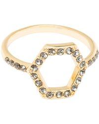 Rebecca Minkoff - Hexagon Open Back Ring - Lyst