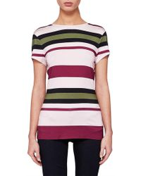 Ted Baker - Viveina Stripe Fitted Tee - Lyst