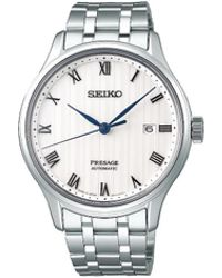 Seiko - Presage Herringbone Dress Watch - Lyst