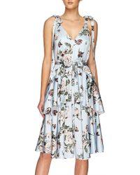 Lover - Posy Satin Dress - Lyst