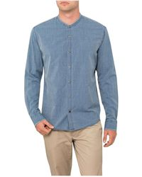 Vince - Frayed Stand Up Collar Shirt - Lyst