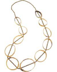 David Jones   Large Resin Hoop Bead Necklace   Lyst