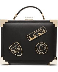 Aspinal - Mini Leather Trunk Bag With Patches - Lyst