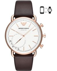 Emporio Armani - Men's Brown Hybrid Smartwatch - Lyst