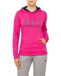 Emporio Armani - Contrast Hoodie With Pearl Logo - Lyst