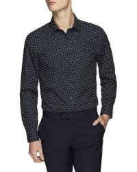 Ben Sherman - Ls Scattered Stripe Camden Fit Shirt - Lyst