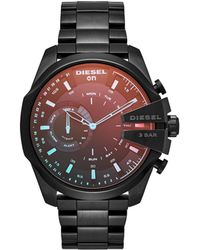 DIESEL - On Mega Chief Black Ip Stainless Steel Hybrid Smartwatch Dzt1011, Color: Black - Lyst