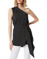 Karen Millen - Single-shoulder Top - Lyst