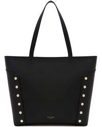Ted Baker - Studded Edge Leather Shopper Bag - Lyst