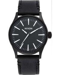 Nixon - Sentry 38 Leather - Lyst