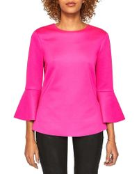 Ted Baker - Gigih Bell-sleeve Top - Lyst