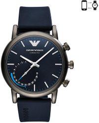 Emporio Armani - Luigi Hybrid Blue Hybrid Smartwatch - Lyst