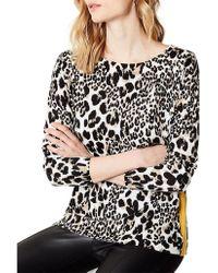 Karen Millen - Cashmere Leopard Top - Lyst