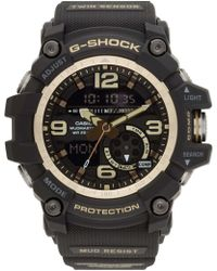 G-Shock - G Shock Mudmaster Twin Sens Blk/gold Resin - Lyst