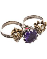 Alexander McQueen | King&queen Doub.ring | Lyst