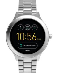 Fossil - Q Venture Silver Smartwatch - Lyst