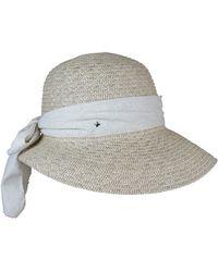 Morgan Taylor - Paper Braid Cap With Large Brim And Scarf Trim - Lyst
