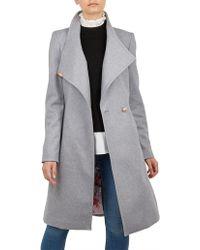 Ted Baker - Sandra Long Wool Wrap Coat - Lyst