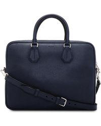 Bally - City Pebbled Leather Slim Shoulder Strap Briefcase - Lyst