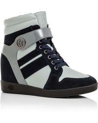 Armani Jeans - Wedge Hi Top With Aj Logo - Lyst