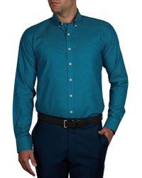 Geoffrey Beene | Houston Street Check Body Fit Shirt | Lyst