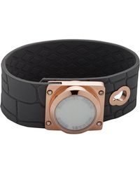 Michael Kors - Reade Rose Gold Silicone Embossed Croco Button Stud Bracelet - Lyst