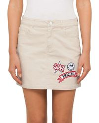 Guess | Patched Mini Skirt | Lyst
